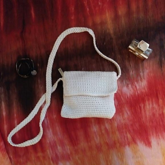 The Sak Handbags - The Sak Flap Crossbody Crocheted Cream Bag Purse